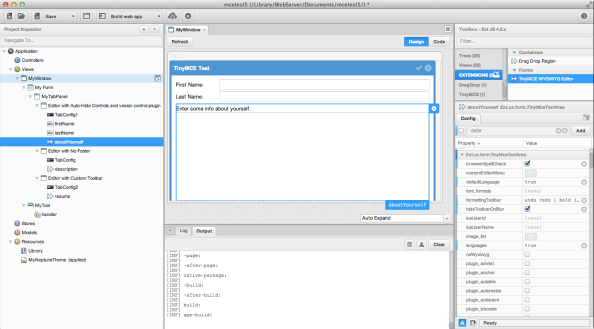 Sencha Architect Integration