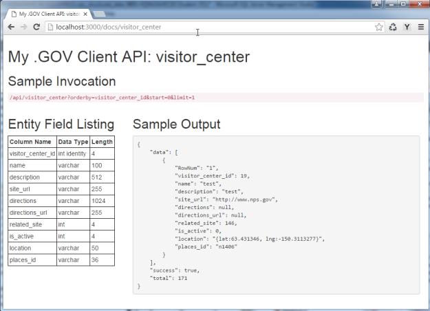 Jade API Output